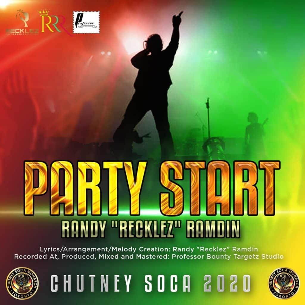 Chutney Soca 2020 Party Start By Randy Recklez Ramdin