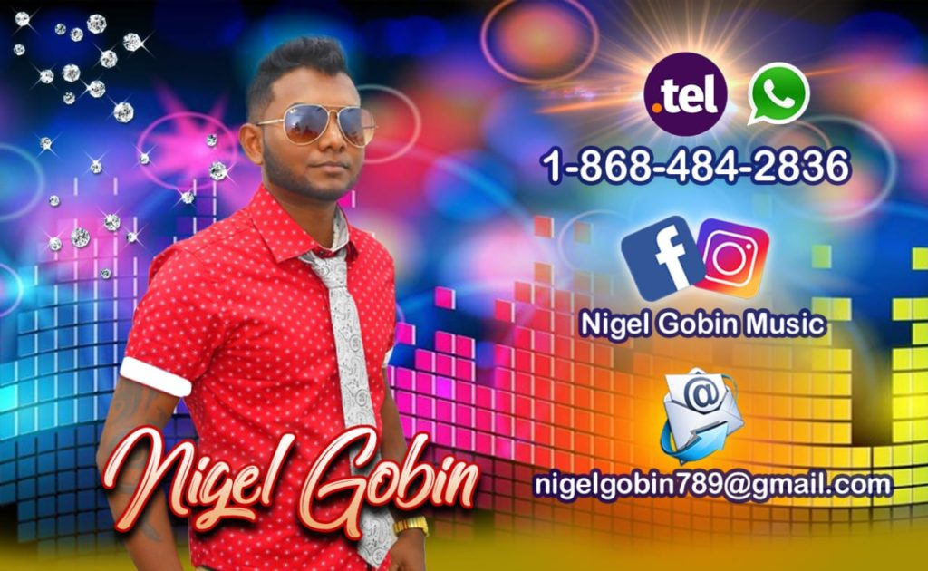 Nigel Gobin Booking Information Trinidad
